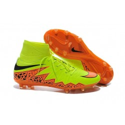 Chaussures Hypervenom Phantom II FG Moulés Nike Jaune Orange