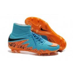 Chaussures Hypervenom Phantom II FG Moulés Nike Bleu Orange
