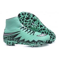 Chaussures Hypervenom Phantom II FG Moulés Nike Vert Argent Noir