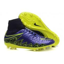 Chaussures Hypervenom Phantom II FG Moulés Nike Violet Jaune