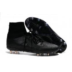 Chaussures Hypervenom Phantom II FG Moulés Nike Tout Noir