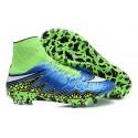 Chaussures de Foot à Crampons Nike HyperVenom Phantom 2 FG Bleu Vert