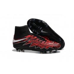 Chaussures de Foot à Crampons Robert Lewandowski Nike HyperVenom Phantom 2 FG Rouge Noir