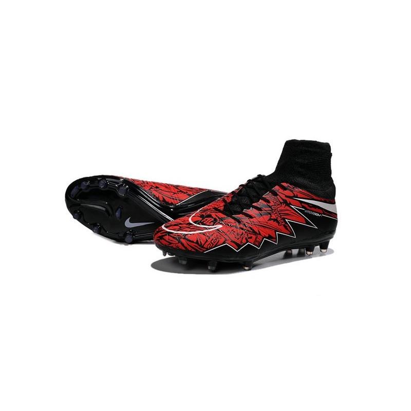 uk availability d803d abc93 Chaussures de Foot à Crampons Robert Lewandowski Nike HyperVenom Phantom 2  FG Rouge Noir