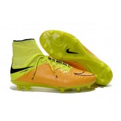Chaussures de Foot à Crampons Nike HyperVenom Phantom 2 FG Cuir Jaune Noir