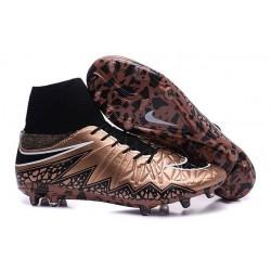 Chaussures de Foot à Crampons Nike HyperVenom Phantom 2 FG Bronze Noir