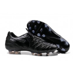 Nouveaux 2016 Chaussures Cuir de Kangourou Nike Tiempo Legend VI FG ACC Tout Noir
