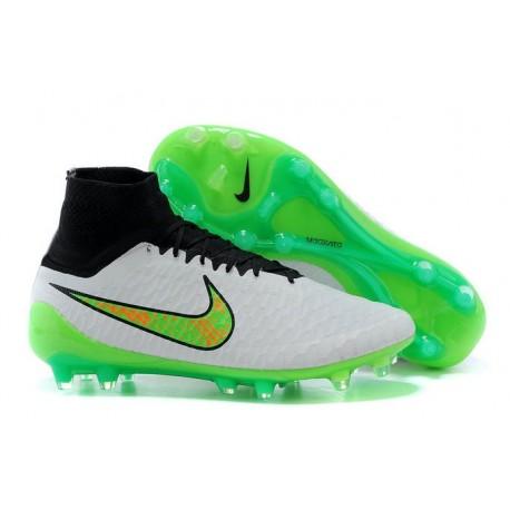 Nike Chaussures de football Magista Obra pour terrain sec blanc vert noir