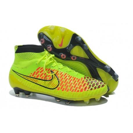 Nike Chaussures de football Magista Obra pour terrain sec volt rouge