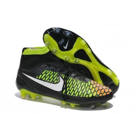 Crampons de Foot Nike Magista Obra FG ACC Homme Noir Vert Rouge
