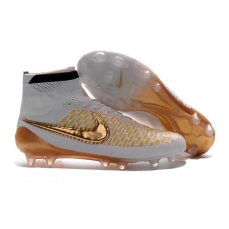 Nike Nouveaux 2016 Chaussure Magista Obra FG ACC Blanc Or