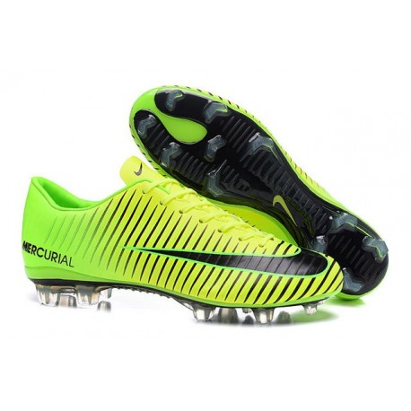 Nike Chaussures de Foot Mercurial Vapor XI FG Vert Noir