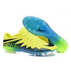 Nike Hypervenom Phinish FG Chaussures Football Volt Noir Turqoise