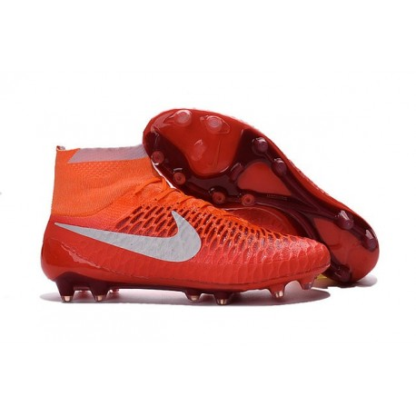 Crampons Football Nouvelle Homme Nike Magista Obra FG Rouge Blanc