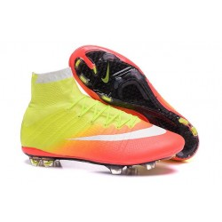 Crampon Nouveau 2016 Nike Mercurial Superfly FG Orange Jaune Blanc