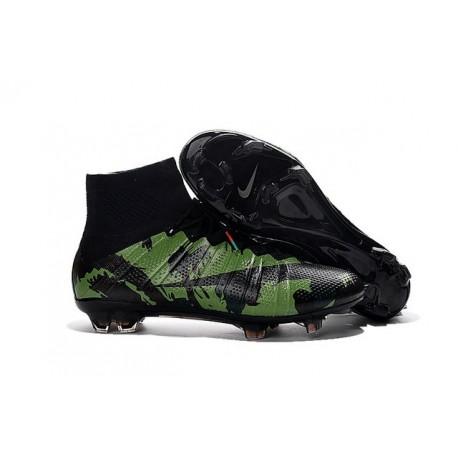 Crampon Nouveau 2016 Nike Mercurial Superfly FG Camo Vert Noir