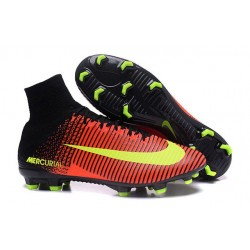 Chaussures a Crampons Nouvel 2016 Nike Mercurial Superfly V FG Orange Jaune Rose