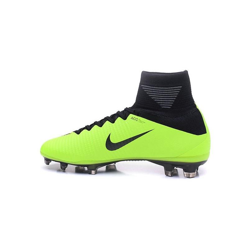 online store bc531 1b3a3 Chaussures a Crampons Nouvel 2016 Nike Mercurial Superfly V FG Vert Noir  Zoom. Précédent · Suivant