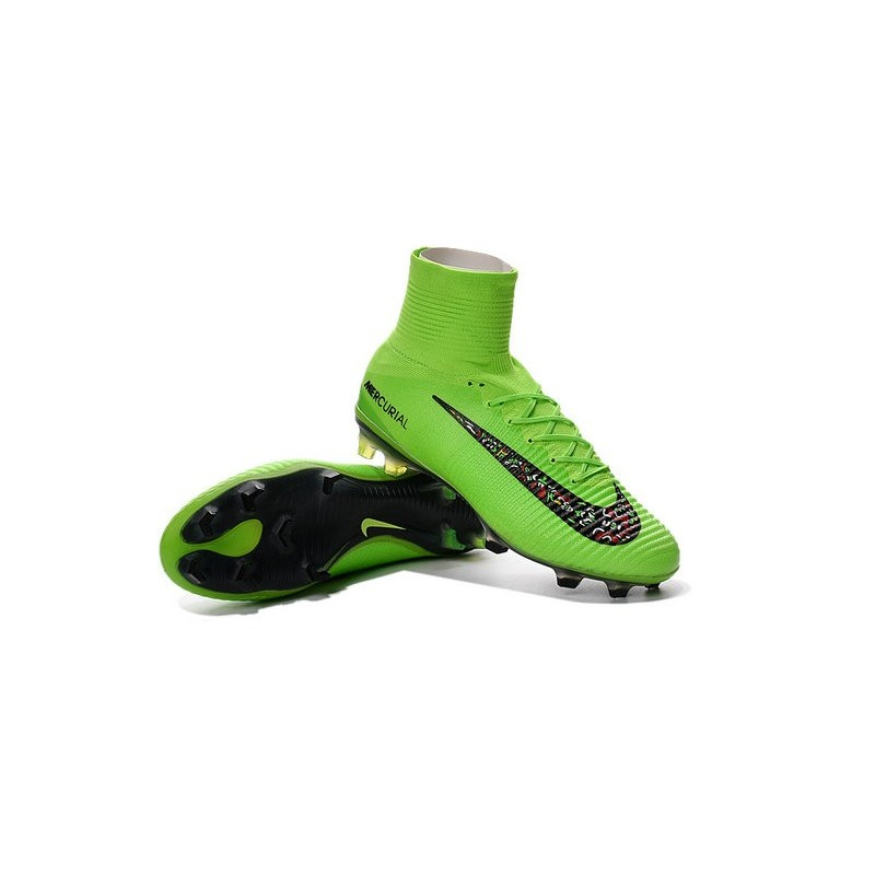 best sneakers 86c9a 6dbb5 ... uk chaussures a crampons nouvel 2016 nike mercurial superfly v fg vert  noire bcd2a fe4bf