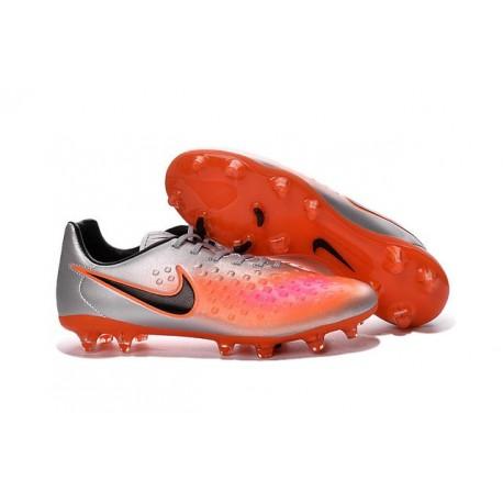 Crampons Football Nouvel Nike Magista Opus 2 FG ACC Argent Orange Noir