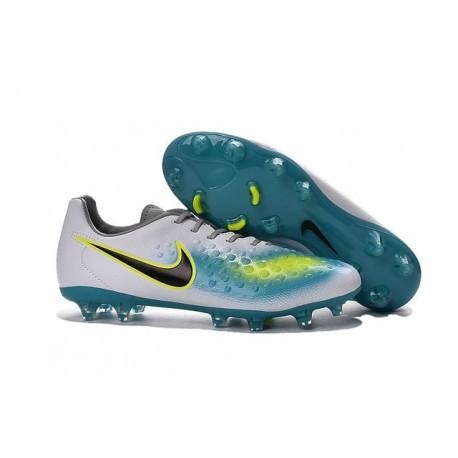 Crampons Football Nouvel Nike Magista Opus 2 FG ACC Blanc Bleu Noir