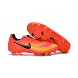 Crampons Football Nouvel Nike Magista Opus 2 FG ACC Orange Jaune Noir