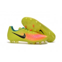 Crampons Football Nouvel Nike Magista Opus 2 FG ACC Jaune Rose Noir