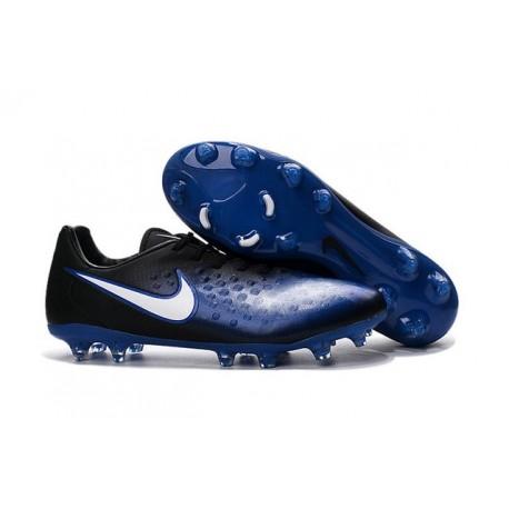 Crampons Football Nouvel Nike Magista Opus 2 FG ACC Bleu Noir Blanc