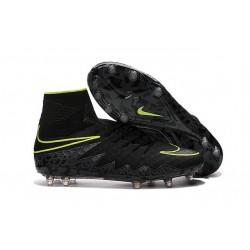Crampon de Foot Nouvelles Nike HyperVenom Phantom II FG Noir Vert