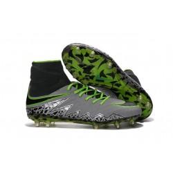Crampon de Foot Nouvelles Nike HyperVenom Phantom II FG Platine Noir Vert