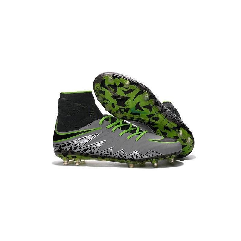 more photos 381f3 934b8 Crampon de Foot Nouvelles Nike HyperVenom Phantom II FG Platine Noir Vert