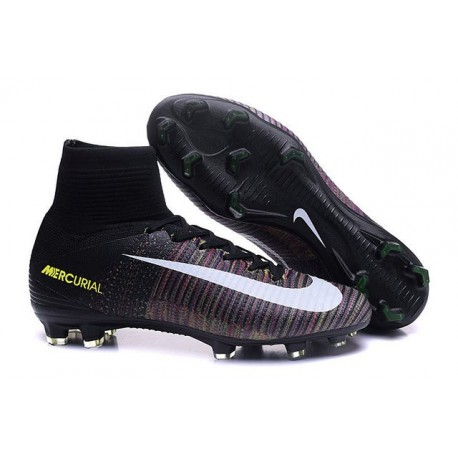 Nike Crampons Football Nouvelles Mercurial Superfly 5 FG Noir Blanc Rose