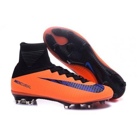 Nike Crampons Football Nouvelles Mercurial Superfly 5 FG Orange Violet