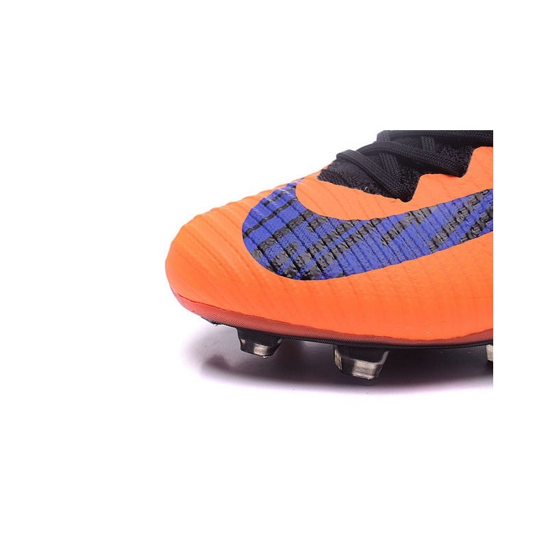 new style 6a756 5c733 Nike Crampons Football Nouvelles Mercurial Superfly 5 FG Orange Violet