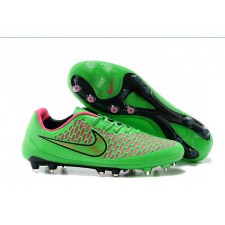 Nike Magista Opus FG Chaussure de Sport Homme Vert Rose