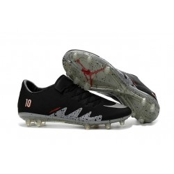 Nike Hypervenom Phinish Neymar x Jordan FG Chaussures Football Noir Argent