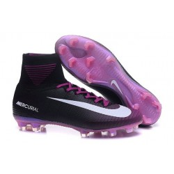 Chaussure de Foot Nike Mercurial Superfly V FG Violet Noir Blanc