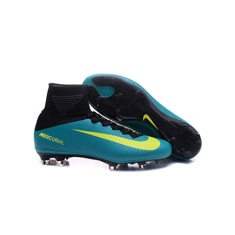 huge selection of shopping most popular Chaussure de Foot Nike Mercurial Superfly V FG Bleu Jaune