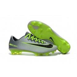 Crampon de Football Nouveau 2016 Nike Mercurial Vapor 11 FG Platine Noir Vert