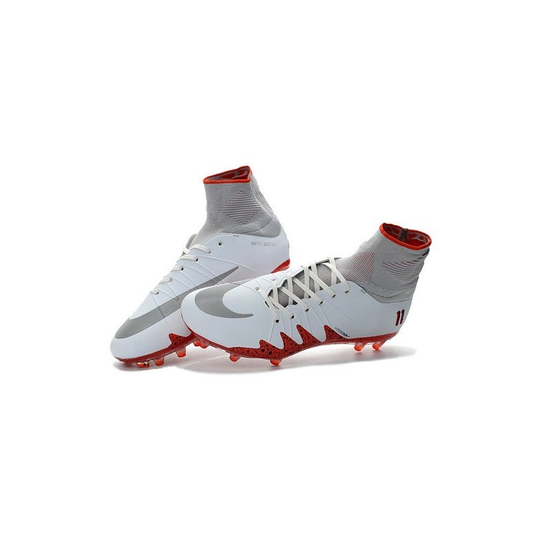 competitive price babcd ba590 Chaussures de Foot Nike Hypervenom II Phantom NJR X Jordan FG Blanc Rouge  Zoom. Précédent. Suivant