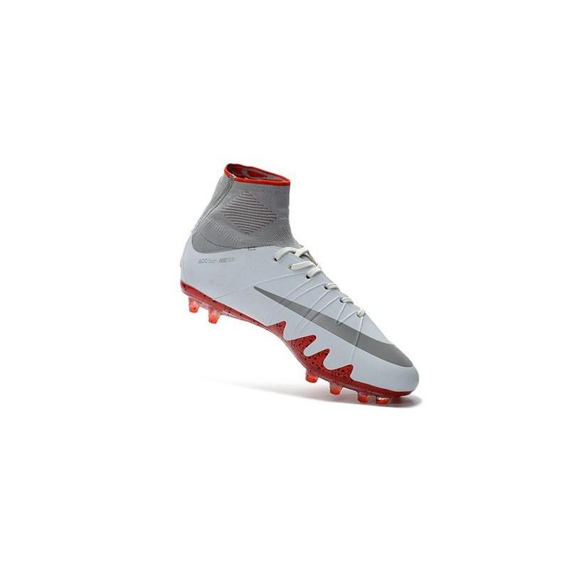 premium selection eff56 a9e42 Chaussures de Foot Nike Hypervenom II Phantom NJR X Jordan FG Blanc Rouge  Zoom. Précédent · Suivant