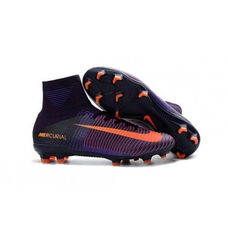 Chaussure de Foot Nike Mercurial Superfly V FG Violet Orange