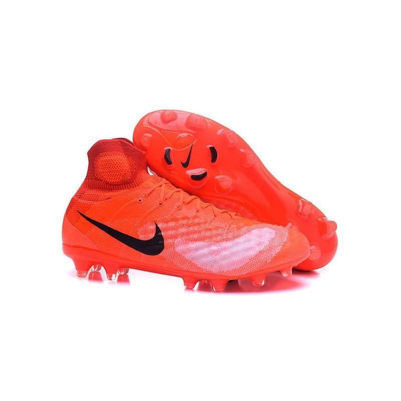 best sneakers 95a87 59597 Nike Magista Obra II FG Nouveau Homme Chaussures Orange Noir Zoom.  Précédent. Suivant