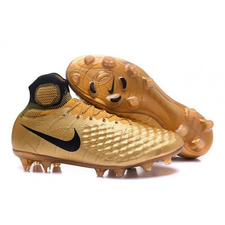 Crampons de Football Meilleurs Nike Magista Obra II FG Or Noir