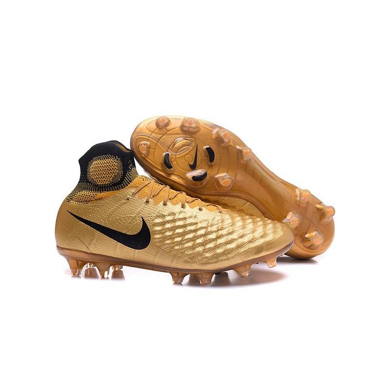 the best attitude 2096e 9de9e Crampons de Football Meilleurs Nike Magista Obra II FG Or Noir Zoom.  Précédent. Suivant