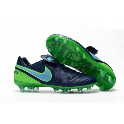 Crampon Football Cuir Nike Tiempo Legend VI FG Noir Vert