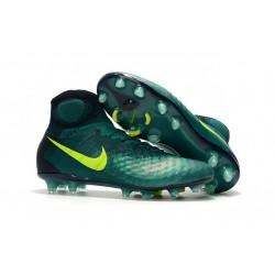 Crampons de Football Meilleurs Nike Magista Obra II FG Vert Jaune
