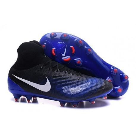 Crampons de Football Meilleurs Nike Magista Obra II FG Noir Bleu