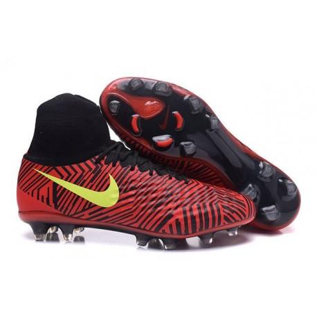 Crampons de Football Meilleurs Nike Magista Obra II FG Rouge Noir Jaune