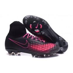 Nike Magista Obra II FG Nouveau Chaussures Foot Noir Rose